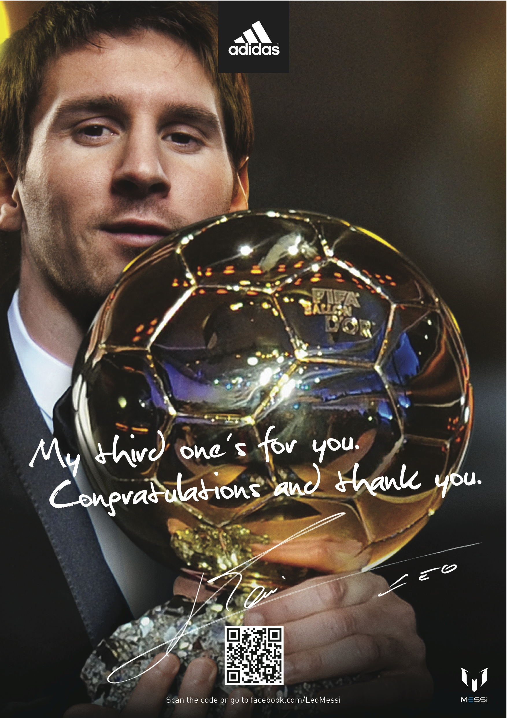 ADIDAS: LEO MESSI FIFA PLAYER OF THE YEAR